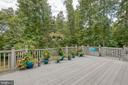 Lovely deck overlooking the back yard - 75 TOM JENKINS RD, FREDERICKSBURG
