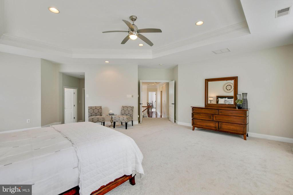 Master Bedroom with space for seating - 43353 VESTALS PL, LEESBURG