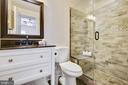 Finely appointed full lower level bath - 43353 VESTALS PL, LEESBURG