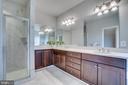 Master Bath includes huge vanity & marble tile - 17266 HARMONY VISTA DR, HAMILTON