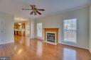 Family Room with Beautiful Hardwood Floors - 31 FULTON DR, STAFFORD