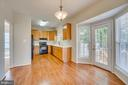 Sunny Eat-in Area off Kitchen w/ Steps to Patio - 31 FULTON DR, STAFFORD