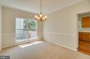 Separate Dining Room w/ Crown and Chair Molding - 31 FULTON DR, STAFFORD