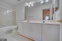 Upper Hallway Bath w/ Double Sinks - 31 FULTON DR, STAFFORD