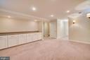 Basement Recreational Room w/ Storage - 31 FULTON DR, STAFFORD