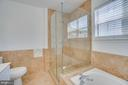 Master w/ Ceramic Tile and Seamless Shower Door - 31 FULTON DR, STAFFORD