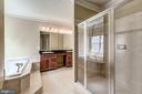 Luxurious Master Bath - 43397 BALLANTINE PL, ASHBURN