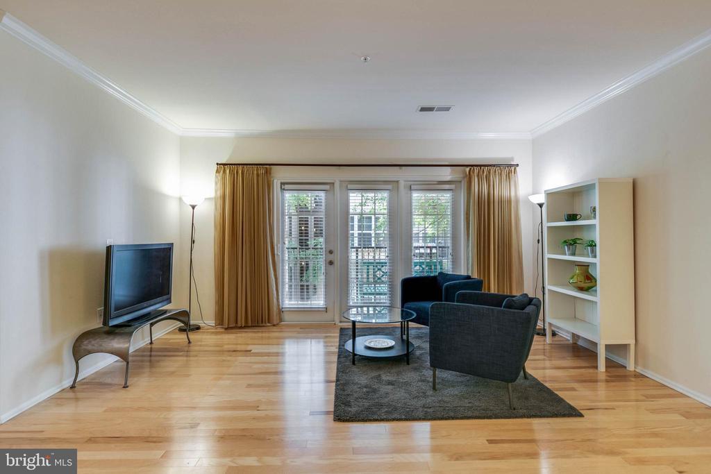 Living room - 11800 OLD GEORGETOWN RD #1208, ROCKVILLE