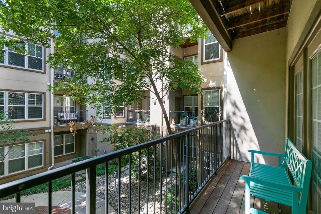 Balcony overlooking courtyard - 11800 OLD GEORGETOWN RD #1208, ROCKVILLE