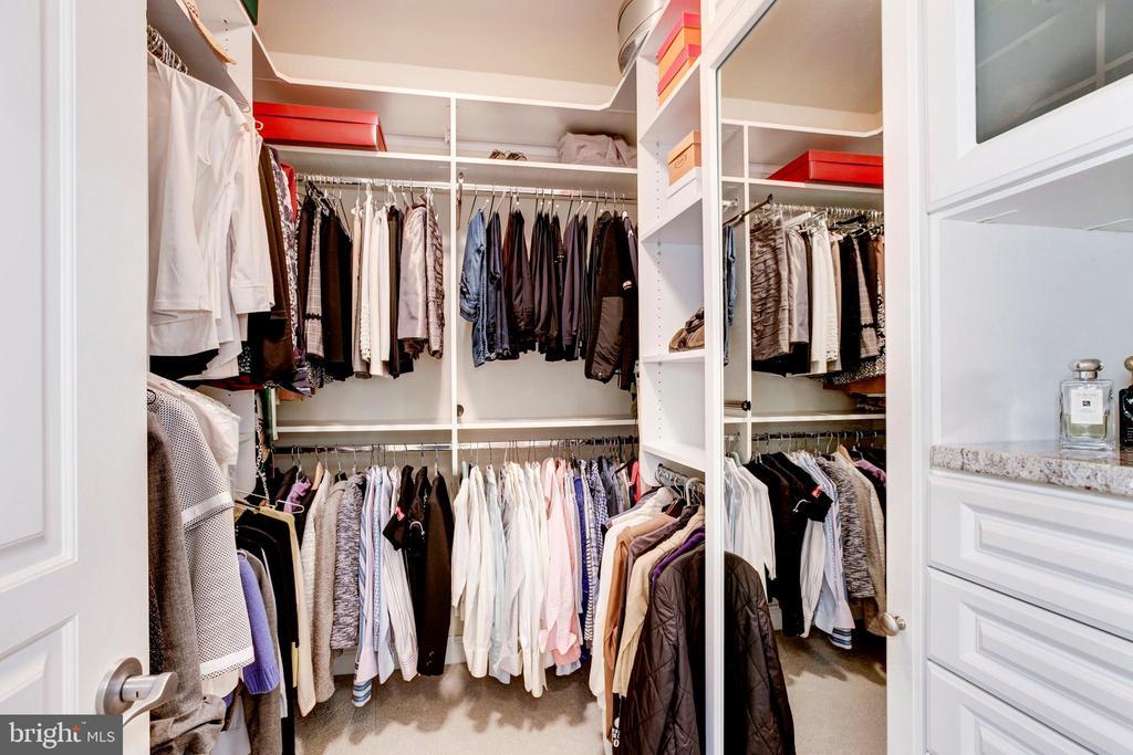 Large custom walk-in closet. One of two! - 1419 N NASH ST, ARLINGTON
