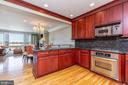 Open kitchen with tons of counter top space! - 1419 N NASH ST, ARLINGTON