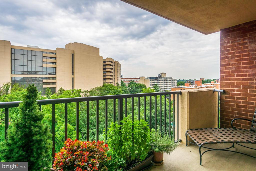 Second balcony off the bedrooms - 1300 ARMY NAVY DR #1009, ARLINGTON