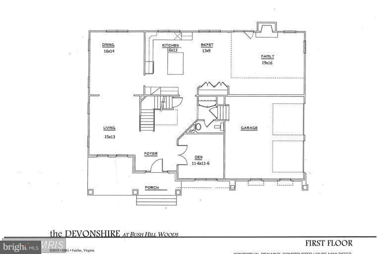 Devonshire Floor Plan - Upper Level - 6112 COLCHESTER RD, FAIRFAX