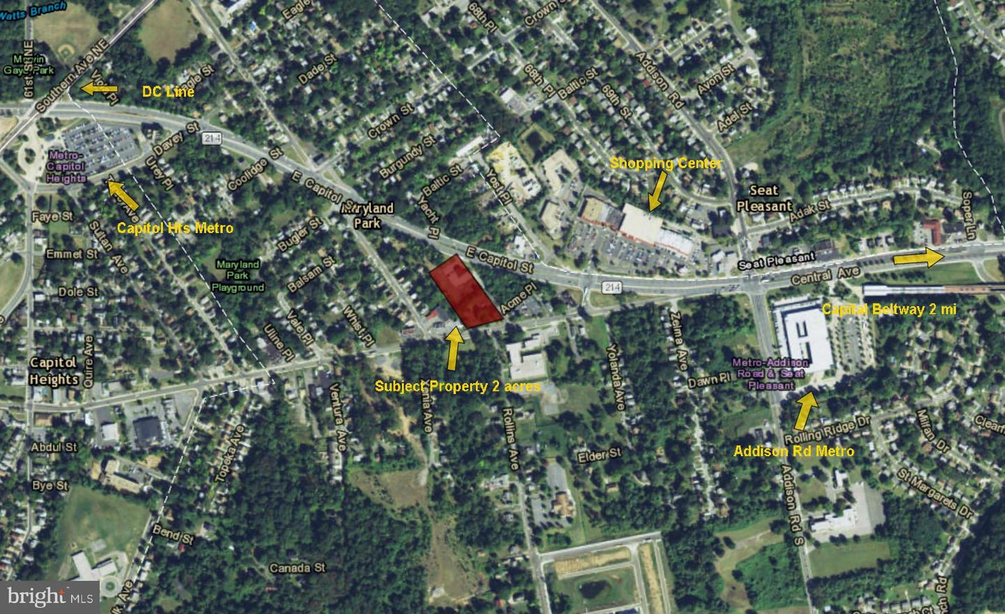 Land for Sale at 6172 Central Ave Capitol Heights, Maryland 20743 United States