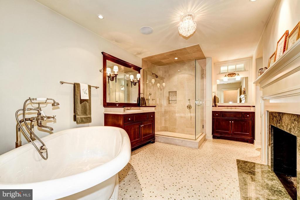 Master bath w/gas fireplace - 2013 HOMEWOOD RD, ANNAPOLIS