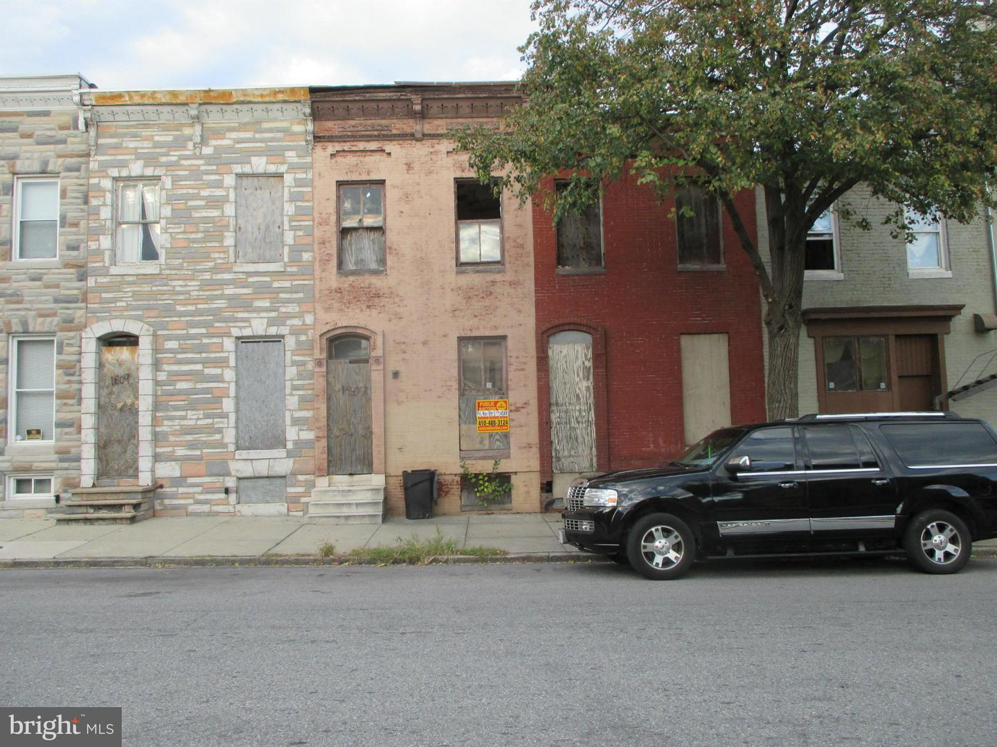 Single Family for Sale at 1807 Division St Baltimore, Maryland 21217 United States