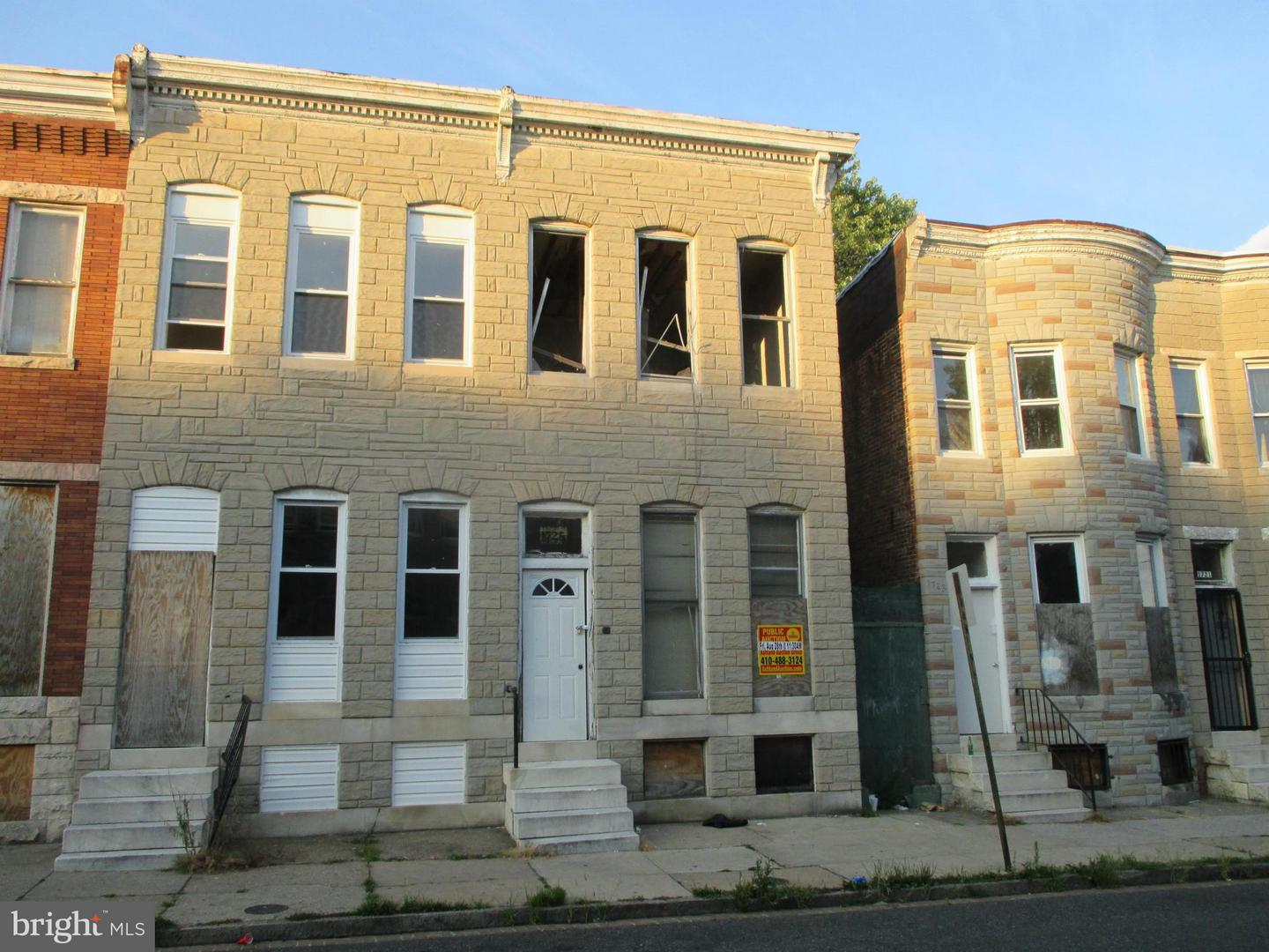 Single Family for Sale at 1725 Carey St N Baltimore, Maryland 21217 United States
