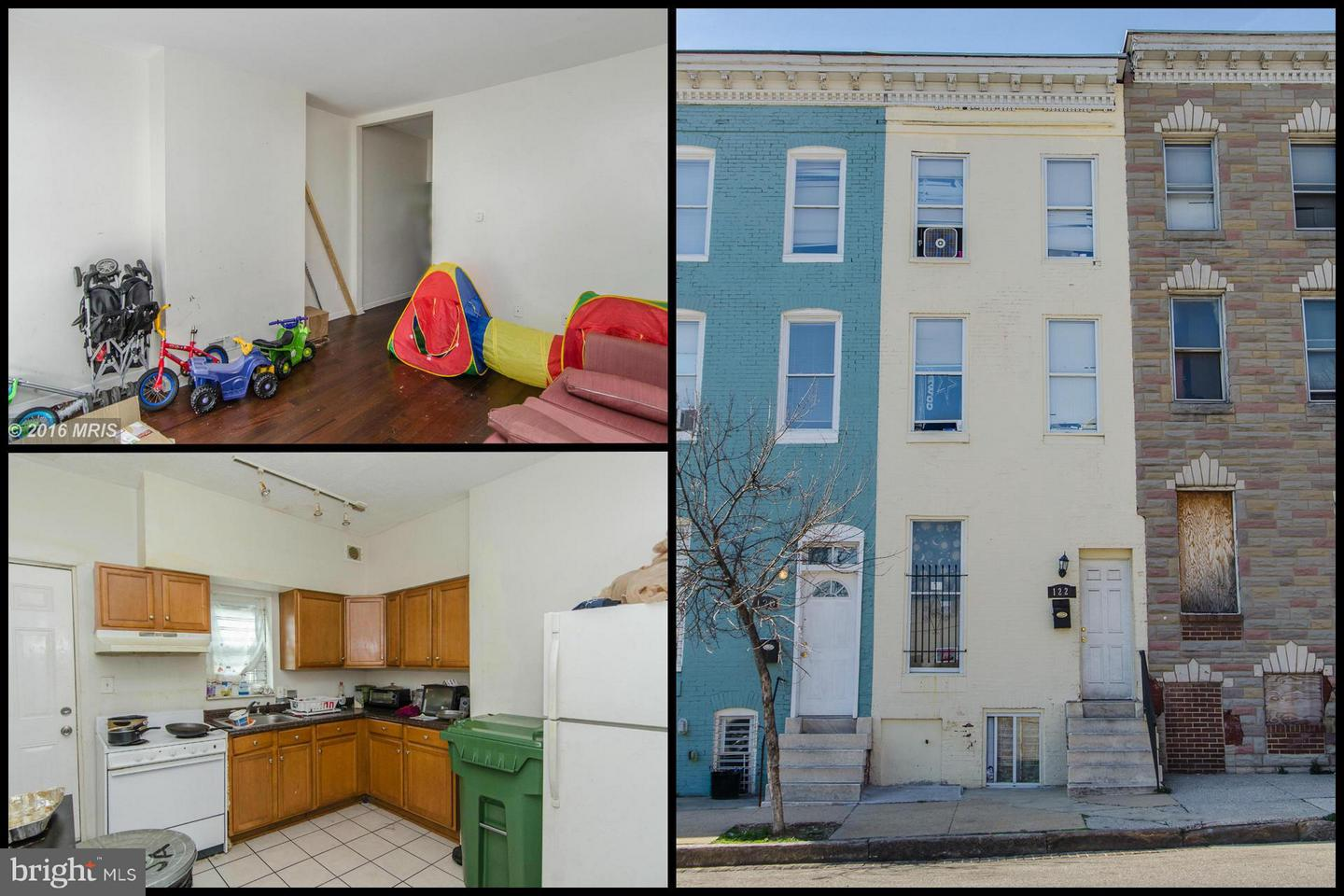Single Family for Sale at 122 Mount St N Baltimore, Maryland 21223 United States