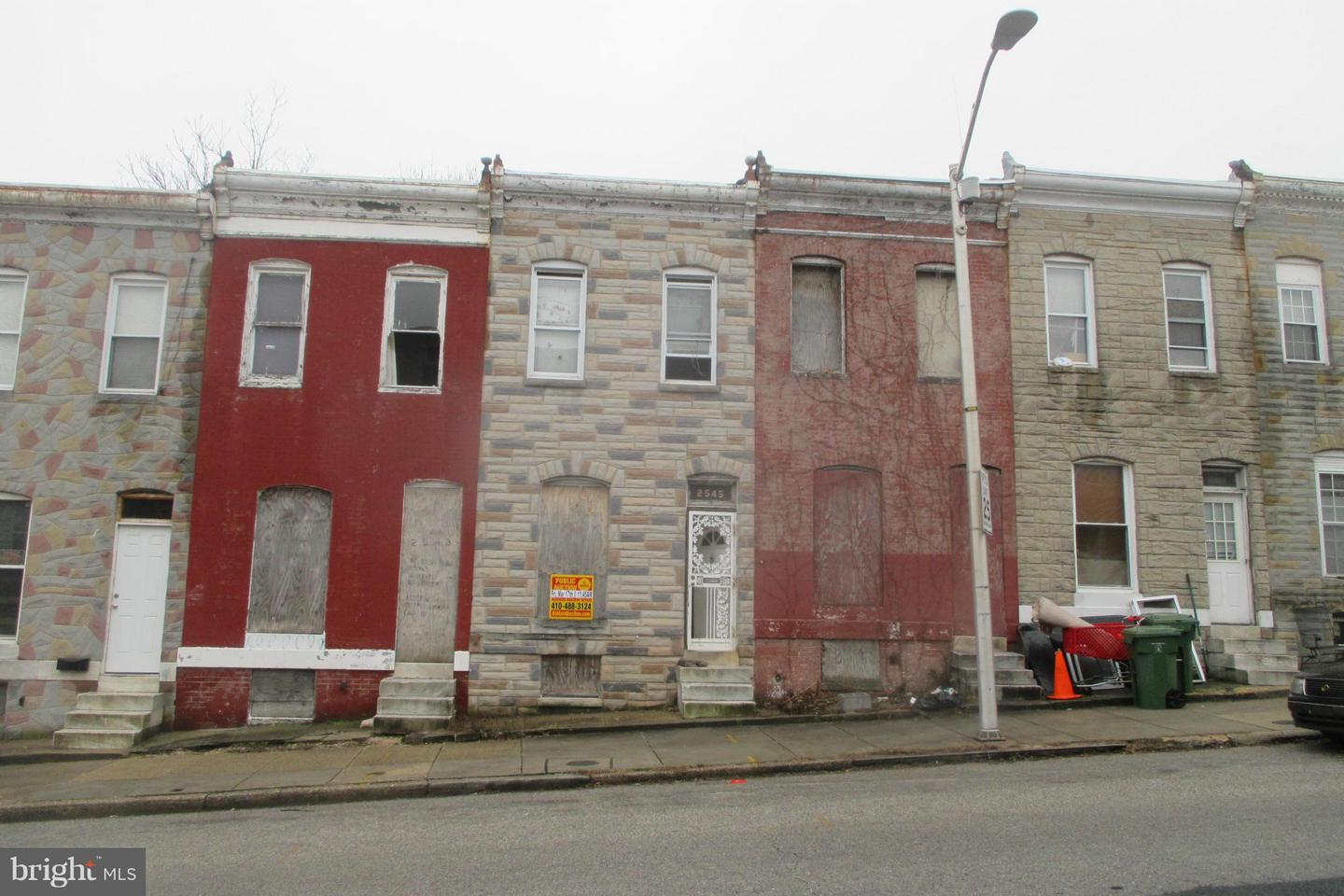 Photo of home for sale at 2545 Hollins Street, Baltimore MD