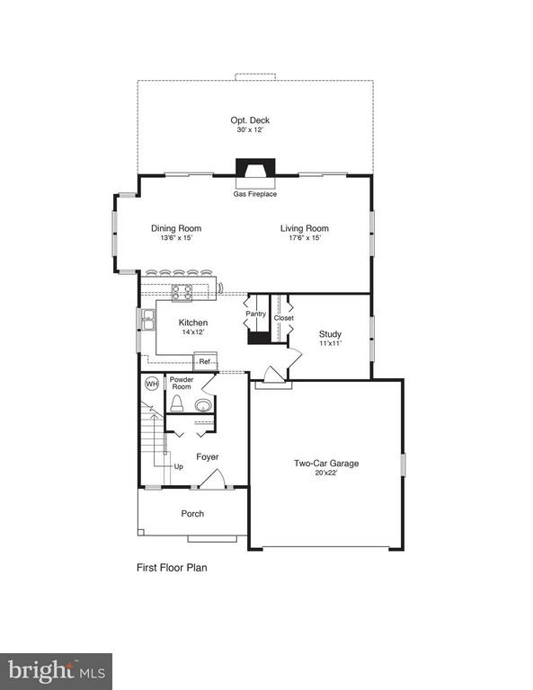 1st Floor Layout - 117 LEE CIR, LOCUST GROVE