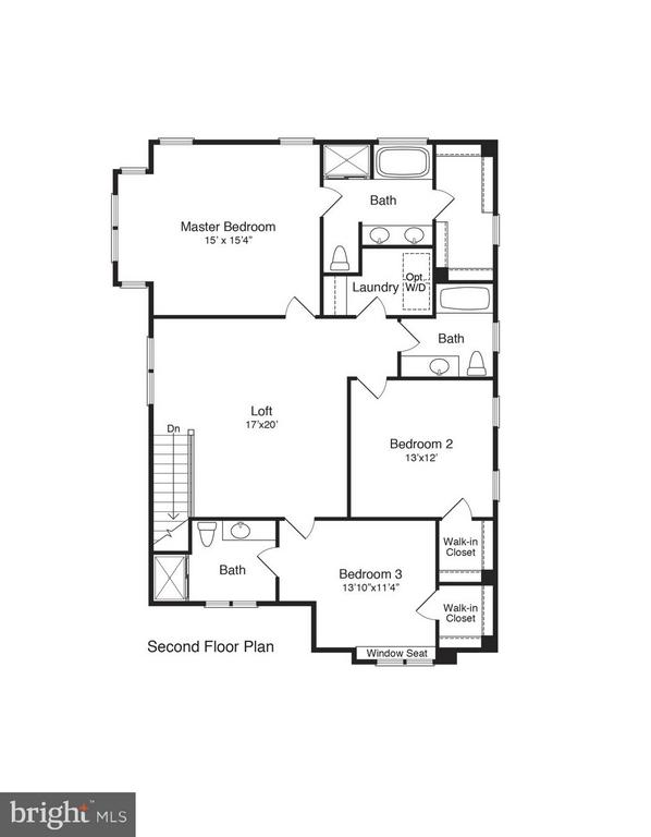 2nd Floor Layout - 117 LEE CIR, LOCUST GROVE