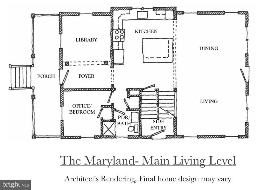Main Level of the Maryland Model - 4708 HOWARD LN, COLLEGE PARK