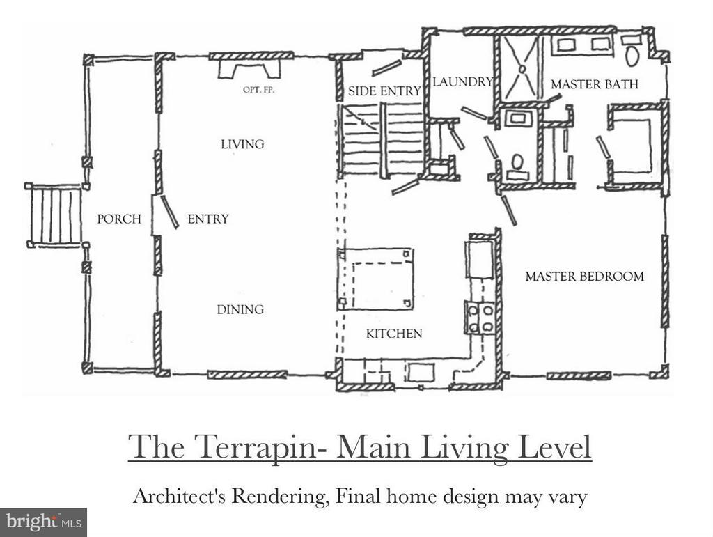 Main Level of the Terrapin Model - 4710 HOWARD LN, COLLEGE PARK