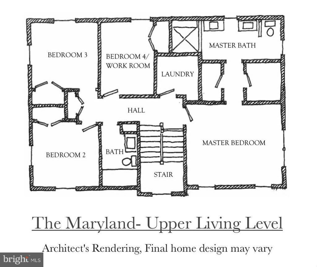 Upper Level of the Maryland Model - 4712 HOWARD LN, COLLEGE PARK