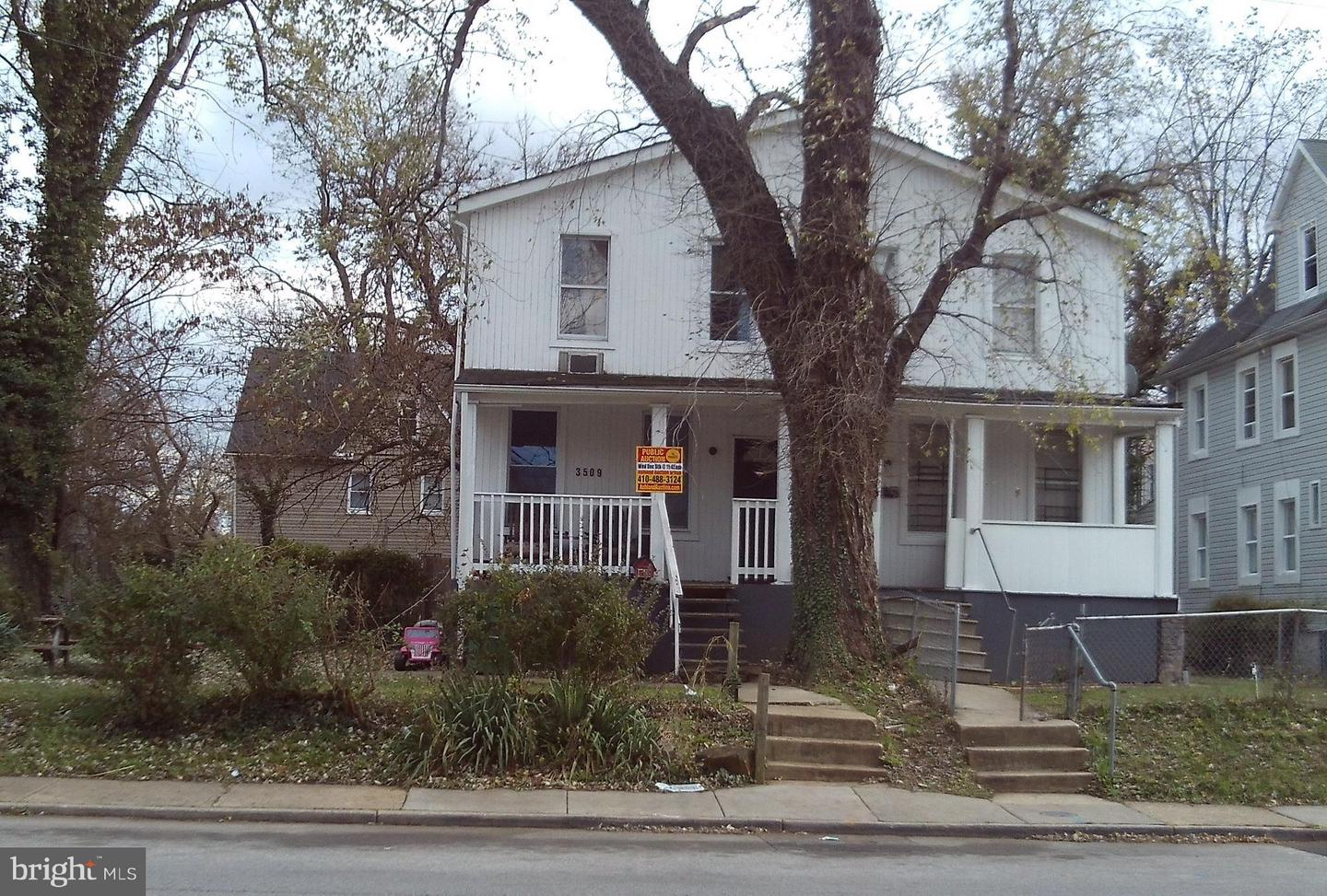 Single Family for Sale at 3509 Hayward Ave Baltimore, Maryland 21215 United States