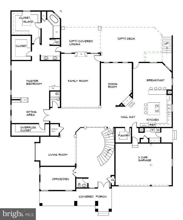 Main Level Floor Plan - 7412B CLIFTON RD, CLIFTON