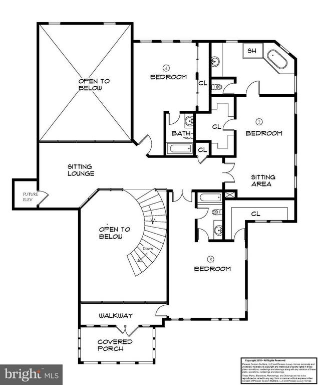Upper Level Floor Plan - 7412B CLIFTON RD, CLIFTON
