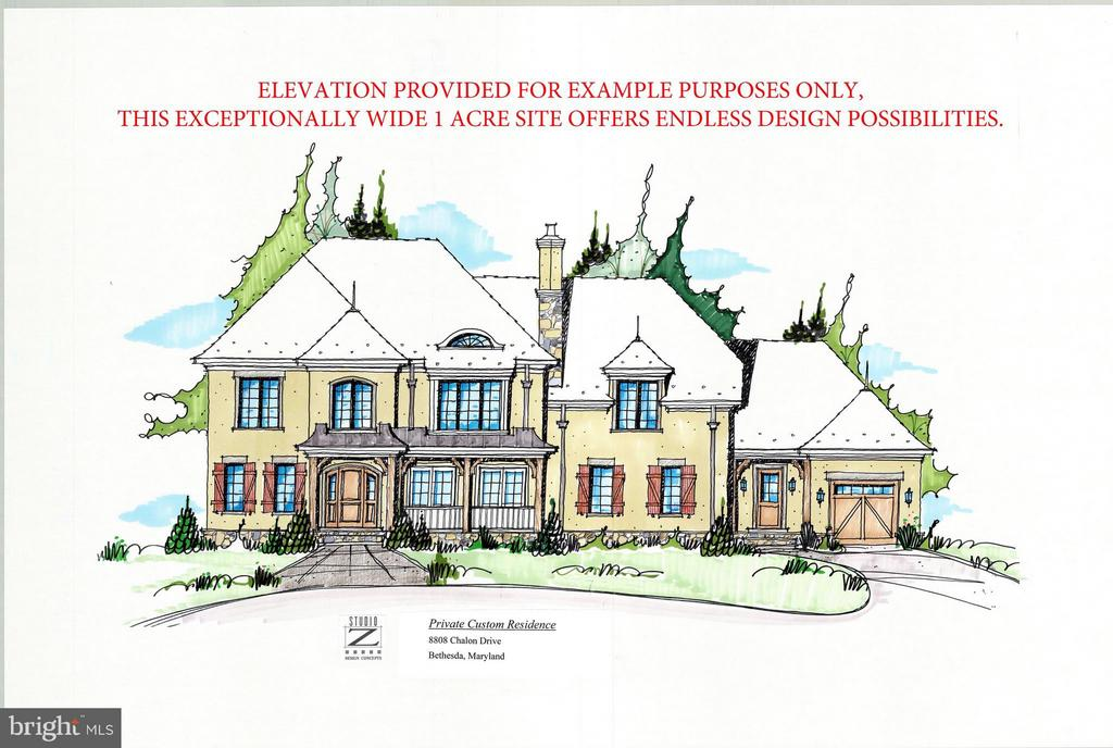 Elevation example provided by Studio Z Architects - 8808 CHALON DR, BETHESDA