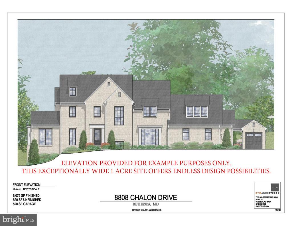 Elevation example provided by GTM Architects - 8808 CHALON DR, BETHESDA