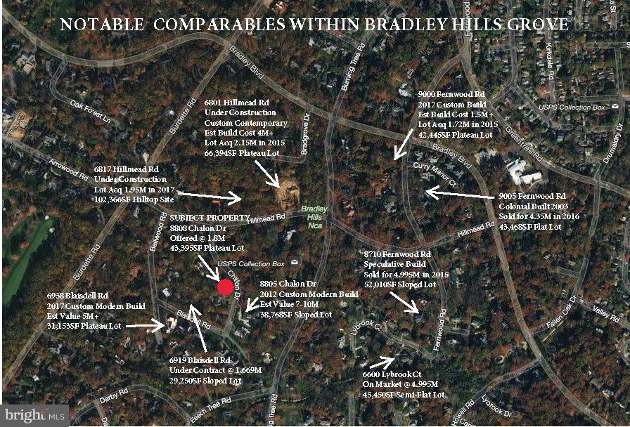 Notable Comparables - 8808 CHALON DR, BETHESDA