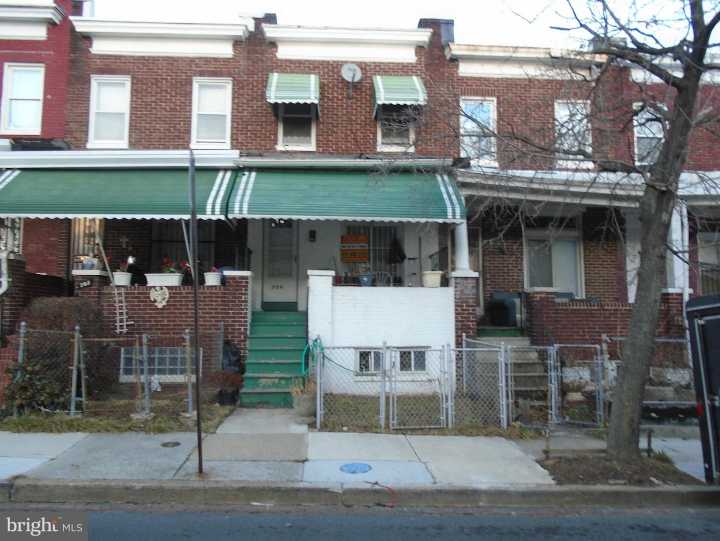 Single Family for Sale at 706 Bartlett Ave Baltimore, Maryland 21218 United States