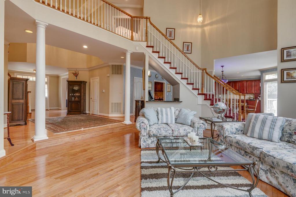 2nd staircase, UV Filmed windows, Woodburning FP - 12100 WALNUT BRANCH RD, RESTON