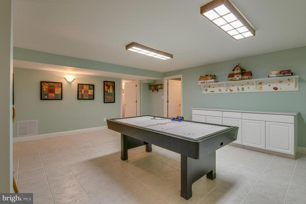 Game Room in Fully Finished Basement - 12100 WALNUT BRANCH RD, RESTON