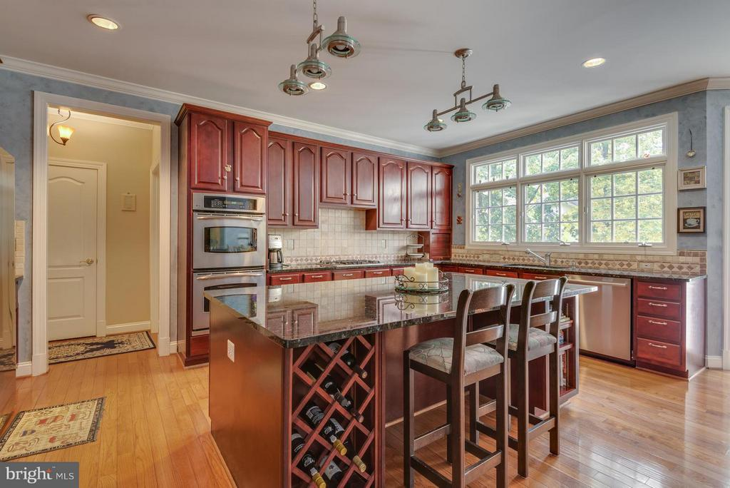 Built in wine cabinet, Giant Breakfast bar/Island - 12100 WALNUT BRANCH RD, RESTON