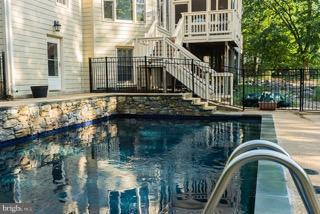 Fenced; Saltwater Pool w/ Popup filtration system - 12100 WALNUT BRANCH RD, RESTON