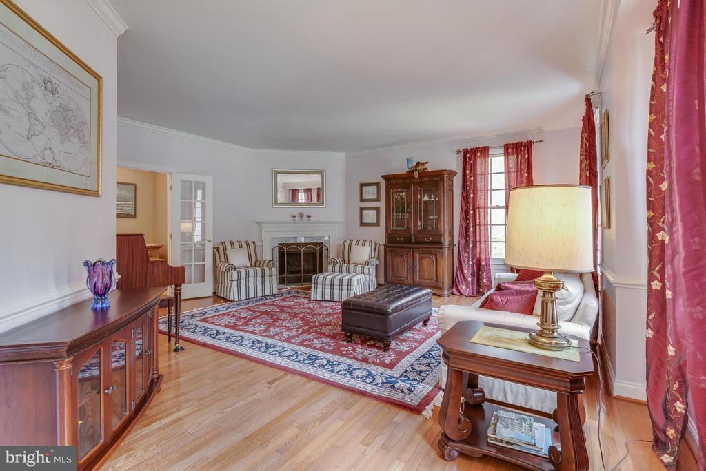 Formal Living Room with Gas Fireplace - 12100 WALNUT BRANCH RD, RESTON