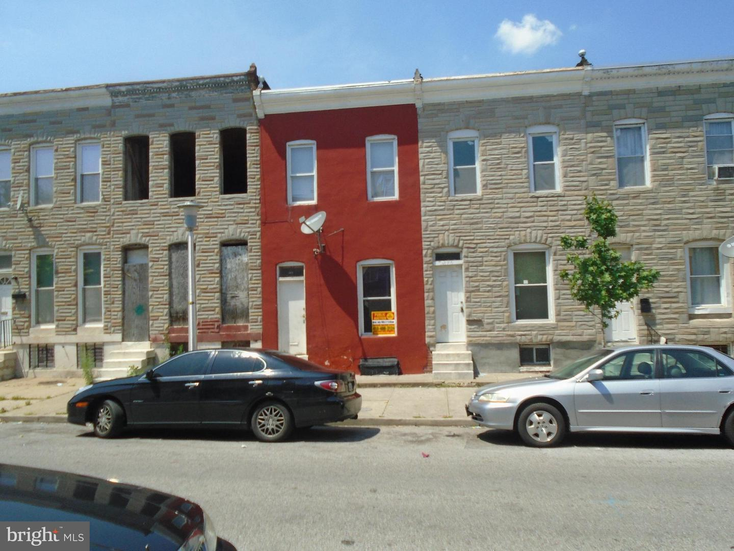 Single Family for Sale at 2572 Fayette St Baltimore, Maryland 21223 United States