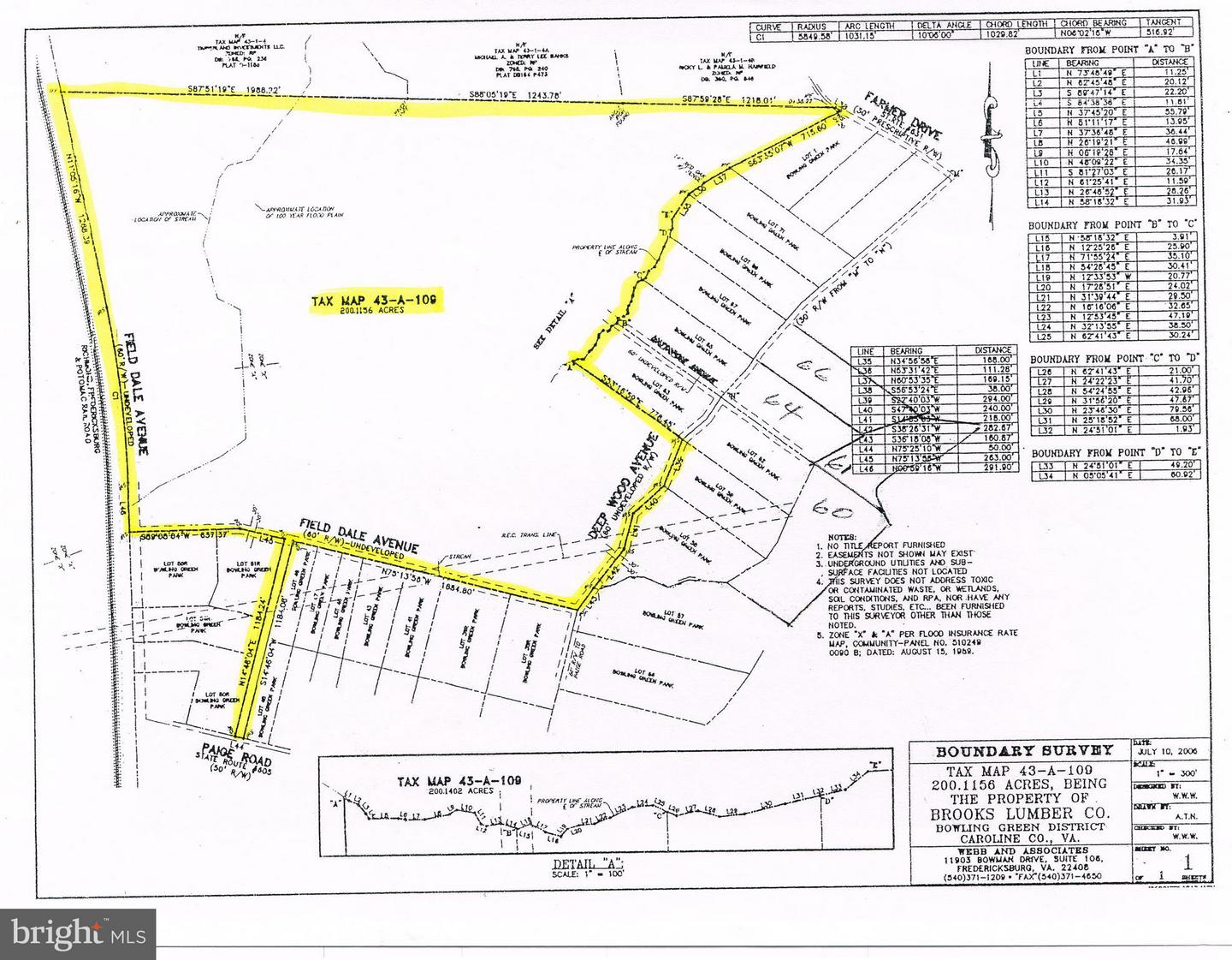Land for Sale at Paige Rd Woodford, Virginia 22580 United States