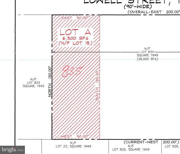 Land for Sale at Lowell St NW Washington, District Of Columbia 20016 United States