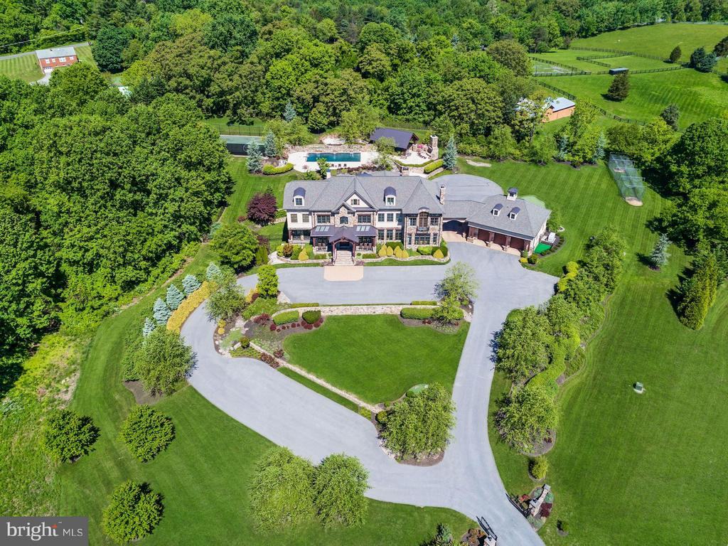 Front Aerial View of Home - 24016 BURNT HILL RD, CLARKSBURG