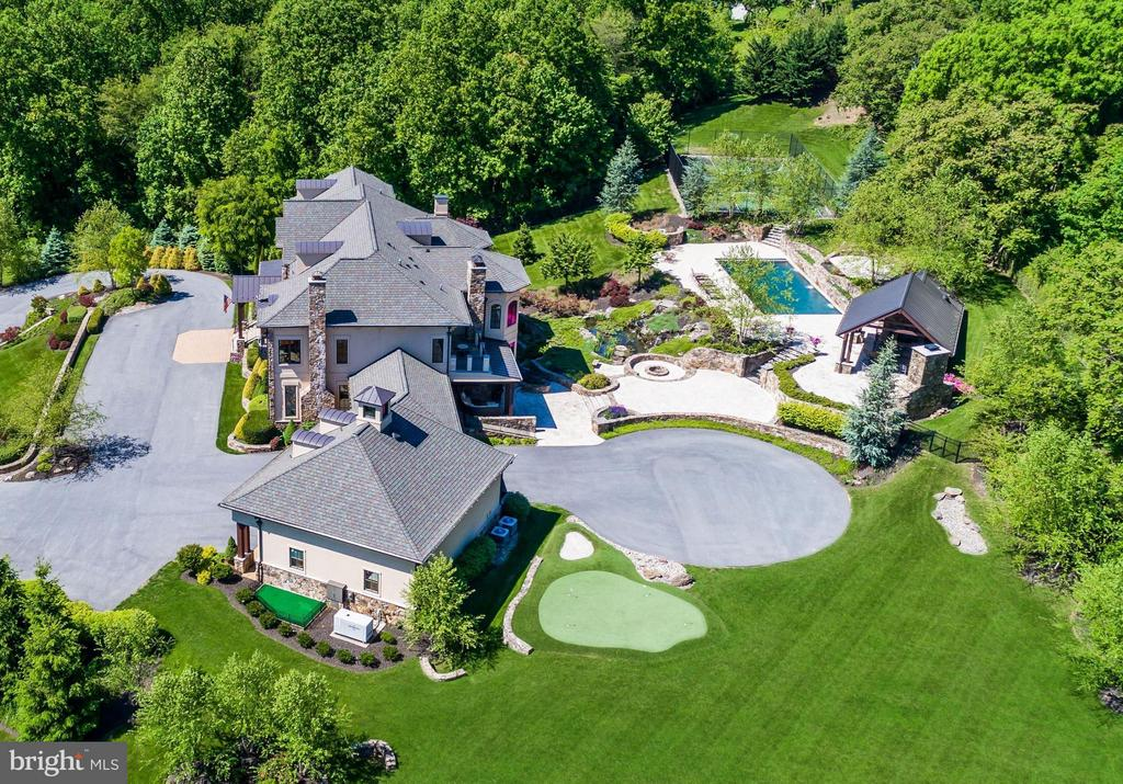 Rear Aerial View of Home - 24016 BURNT HILL RD, CLARKSBURG