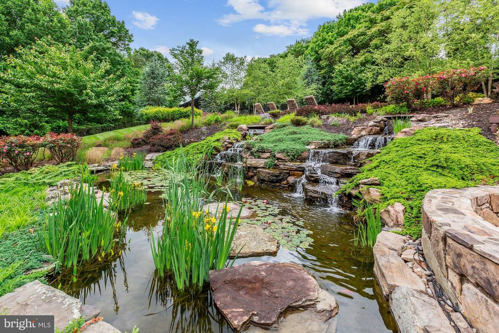 KOI Pond and Waterfall - 24016 BURNT HILL RD, CLARKSBURG