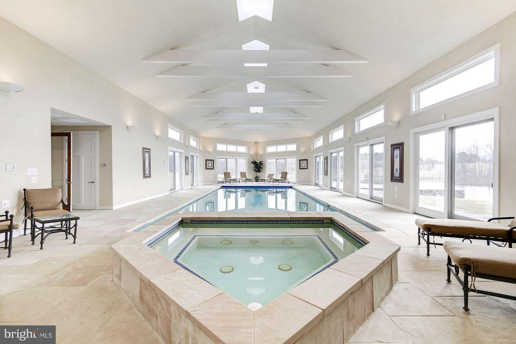 Indoor hot tub and pool - 19290 TELEGRAPH SPRINGS RD, PURCELLVILLE