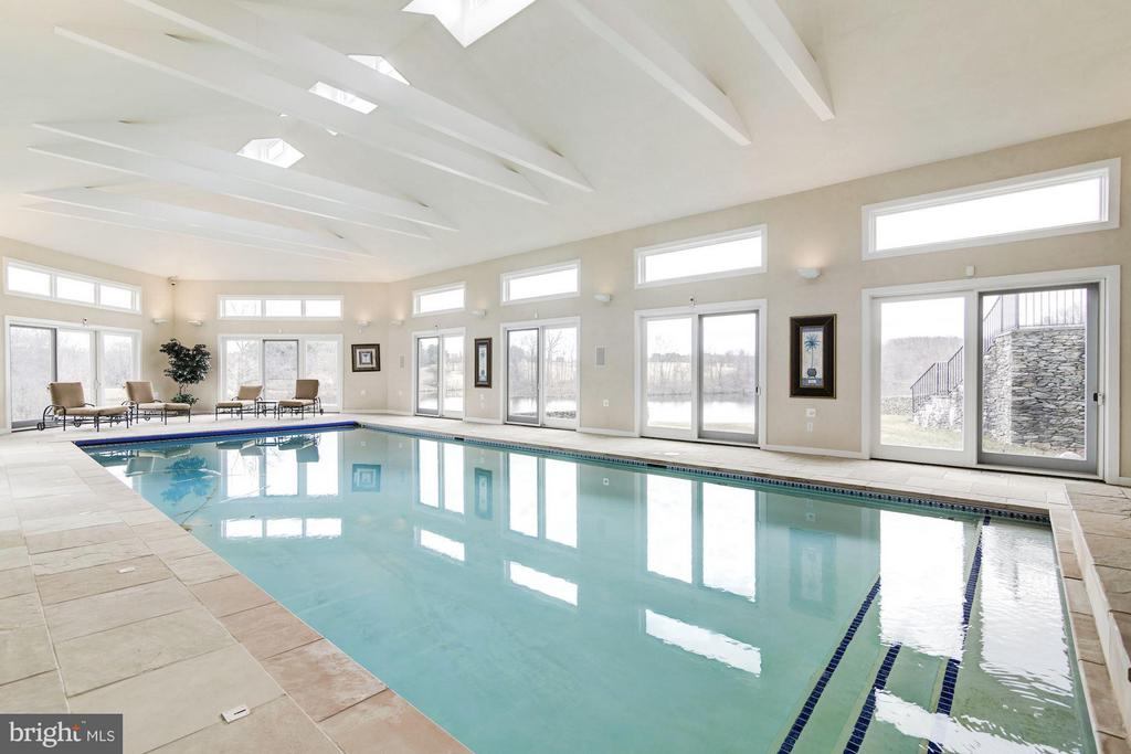 Indoor pool - 19290 TELEGRAPH SPRINGS RD, PURCELLVILLE