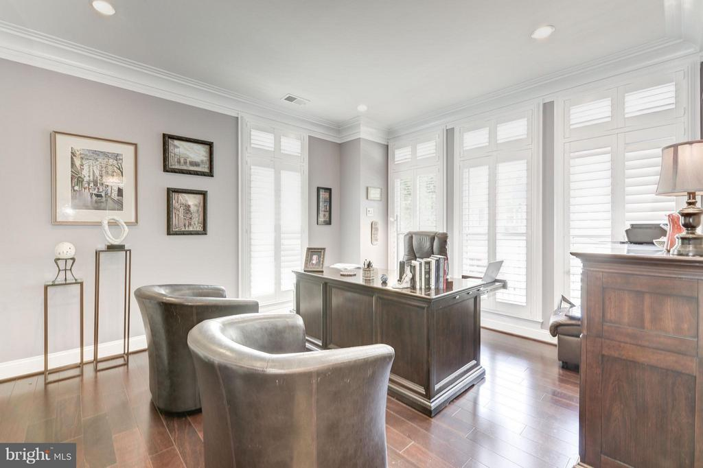 ENTRY LEVEL LIBRARY/BEDROOM - 10887 SYMPHONY PARK DR, NORTH BETHESDA