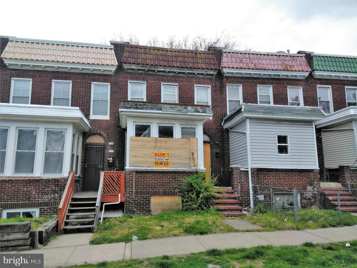 Single Family for Sale at 908 Bonaparte Ave Baltimore, Maryland 21218 United States